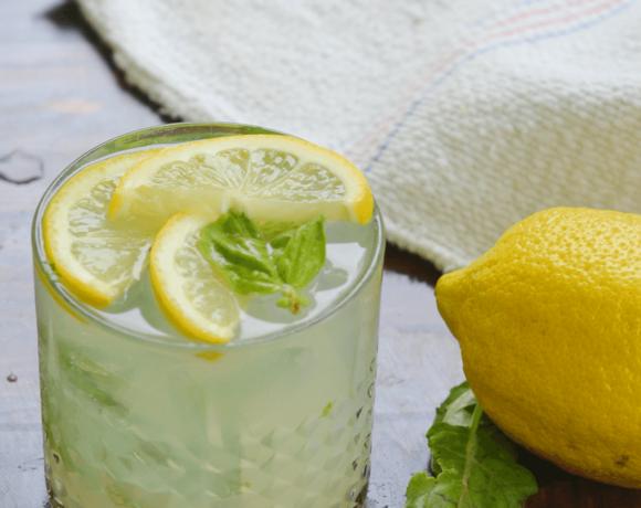 Lemon Basil Gin Fizz