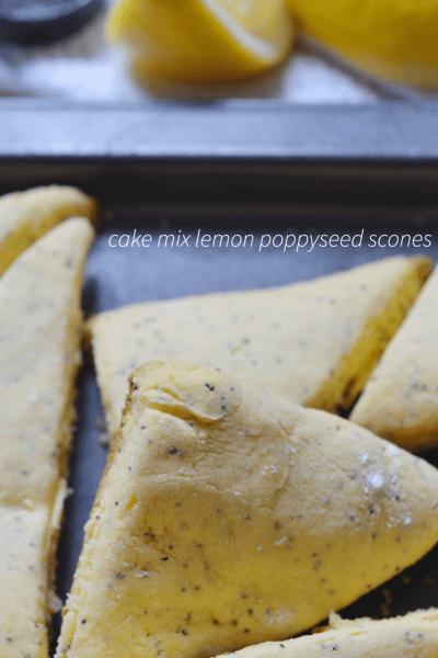 easy Lemon Poppyseed Scones (busy mom hack)