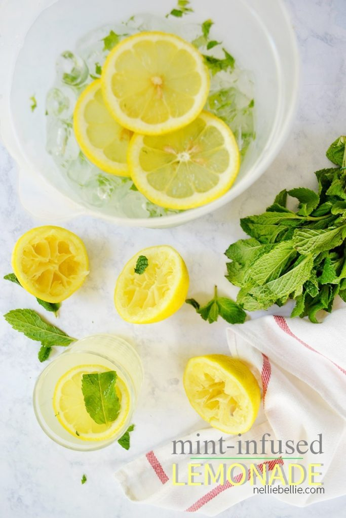 This Mint-Infused Lemonade Recipe makes a fresh and clean summer beverage!