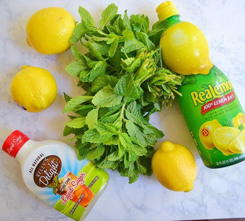 mint infused lemonade is a fresh and clean summer beverage!