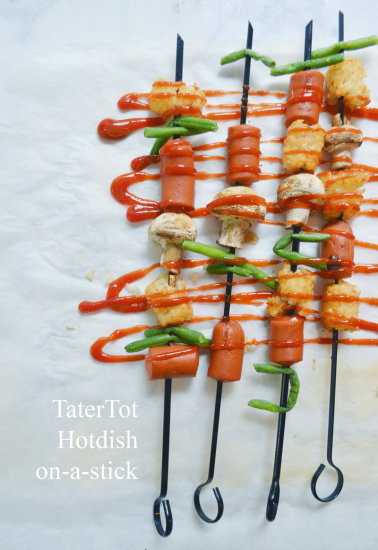 Tater tot Hot-dish-on-a-stick