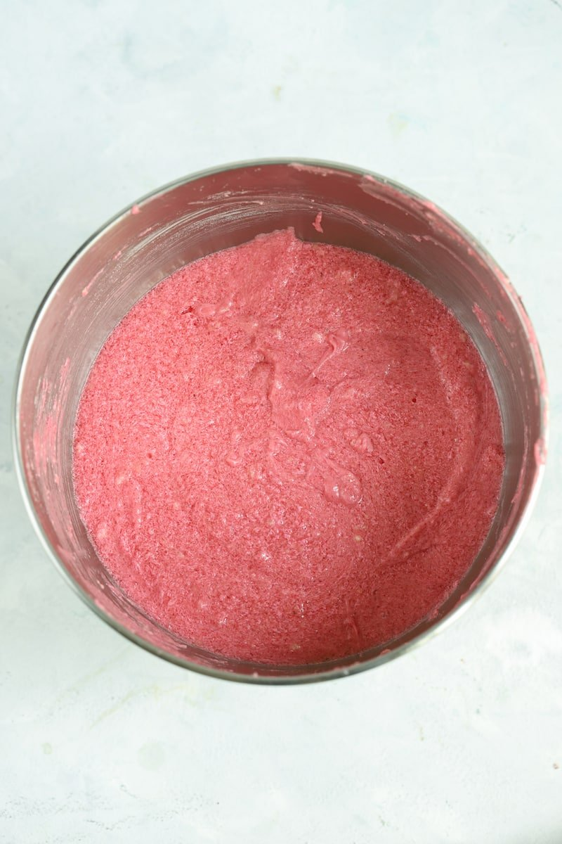 strawberry cake batter