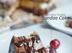 A Sundae Cake is a family Sunday tradition. A summer dessert to feed a crowd.