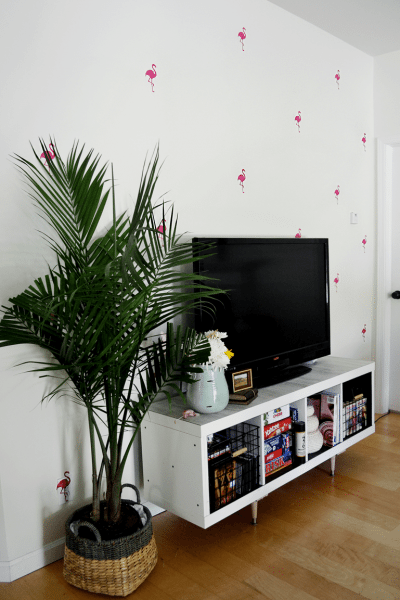 Peek into my living room and a flamingo giveaway.
