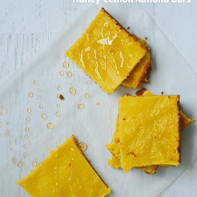 Honey-Lemon Almond bars