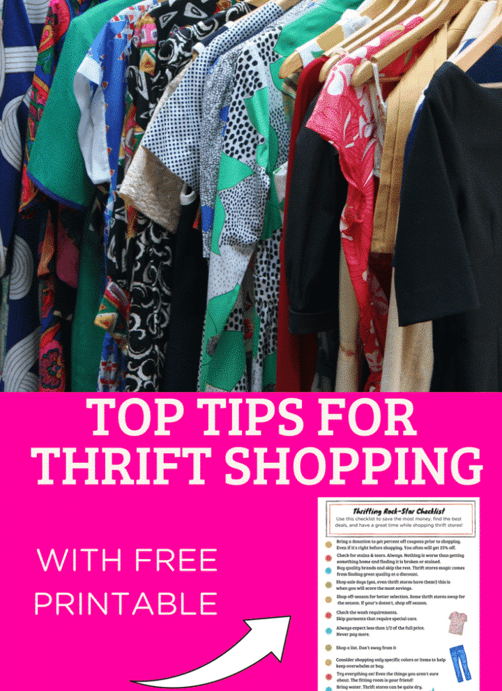 How to Thrift Shop [free printable]