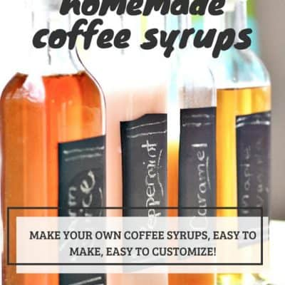 homemade coffee syrup recipe