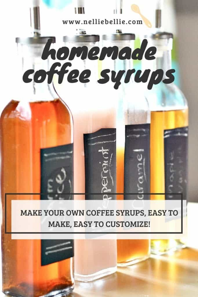make your own coffee syrups! Easy to make and delicious. Stores well so you can have them in your coffee daily or make a sweet gift.
