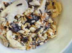 Wild Rice Maple Syrup Overnight Oats