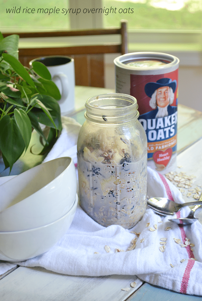Maple Wild Rice Overnight Oats are delicious, easy to make, and a MN hearty recipe!