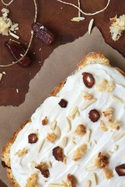Coconut Date Cheesecake Bars