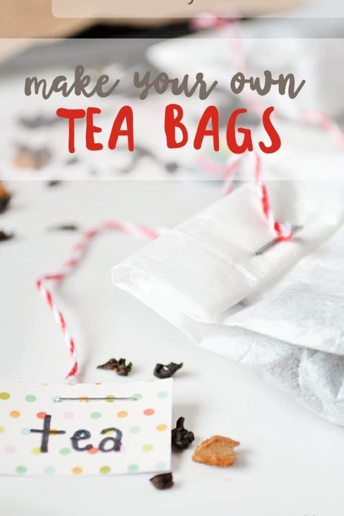 make your own tea bags | how to make tea bags | diy tea bags