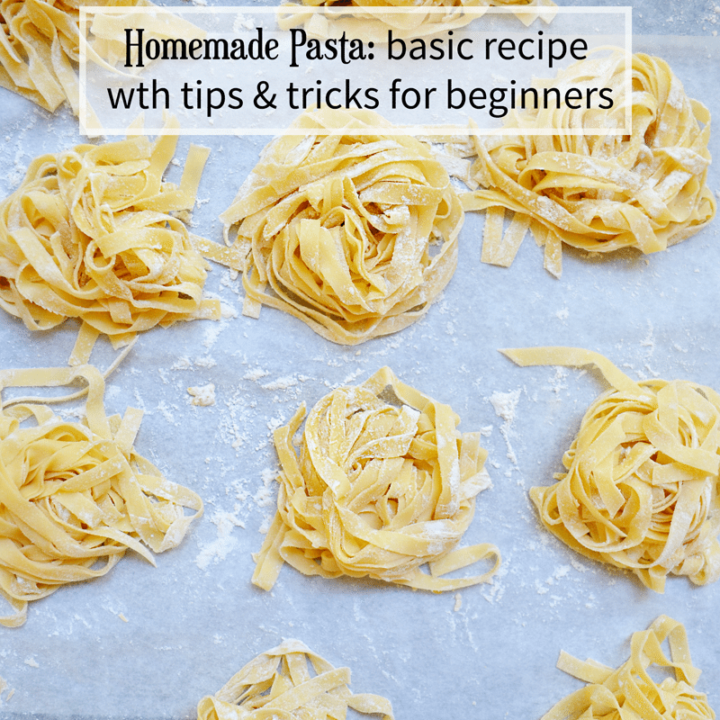How to Make Homemade Pasta for the beginner. With tips, tricks, recipe, and tutorial.