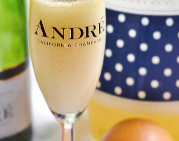 Lavender Mimosa recipe that is easy to make and delicious to serve. This recipe makes a whole pitcher!