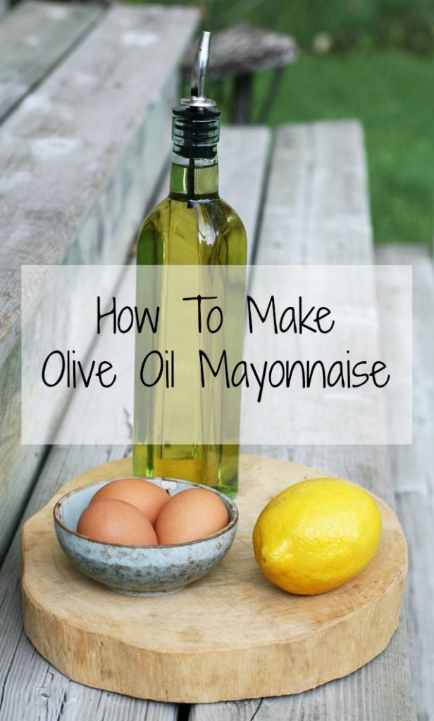 How to make homemade mayonnaise out of olive oil.