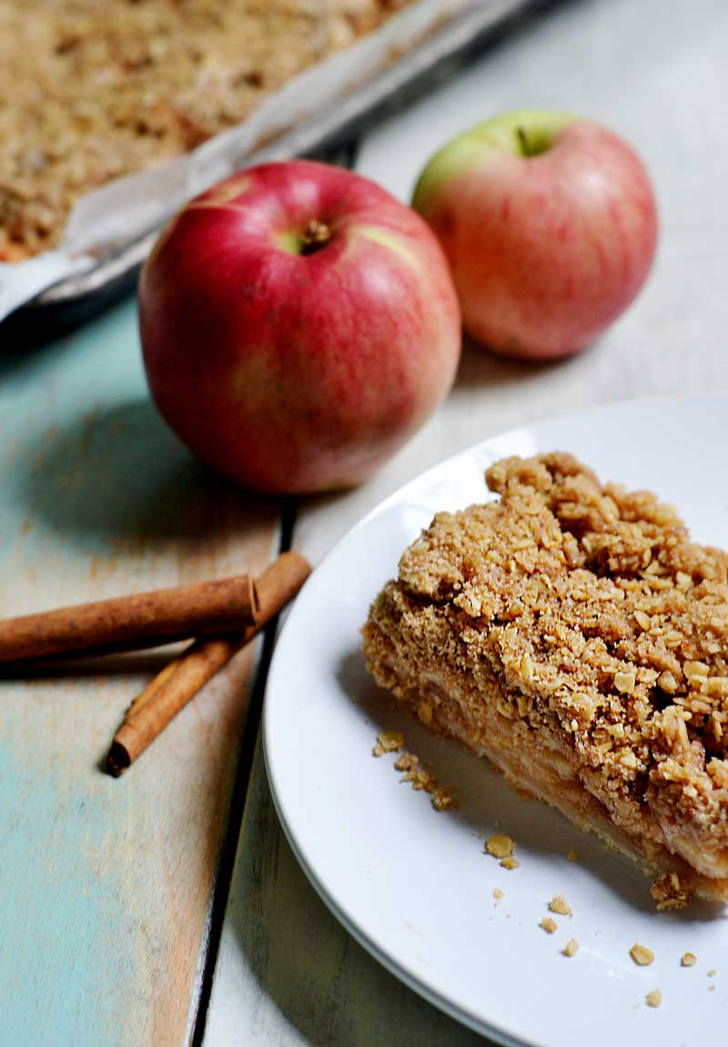 These easy Apple Pie bars are easy to make, taste like apple pie AND apple crisp at the same time! Apple pie crumble is perfect for serving a crowd!