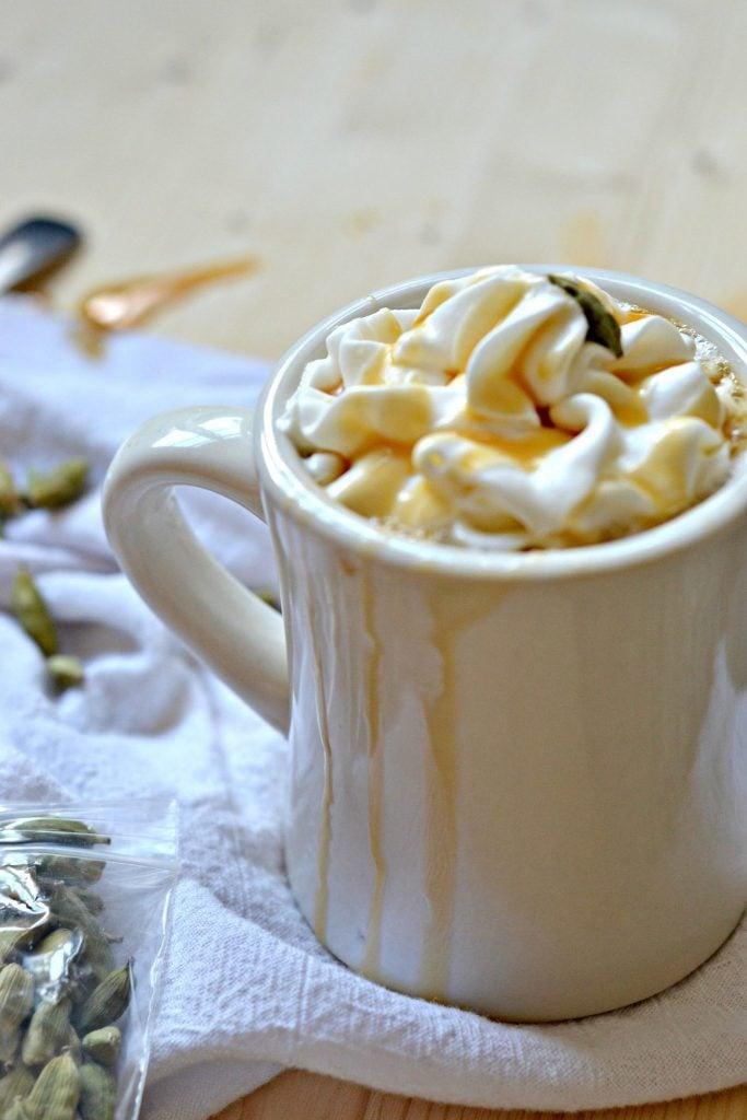 homemade Cardamom Caramel Latte recipe