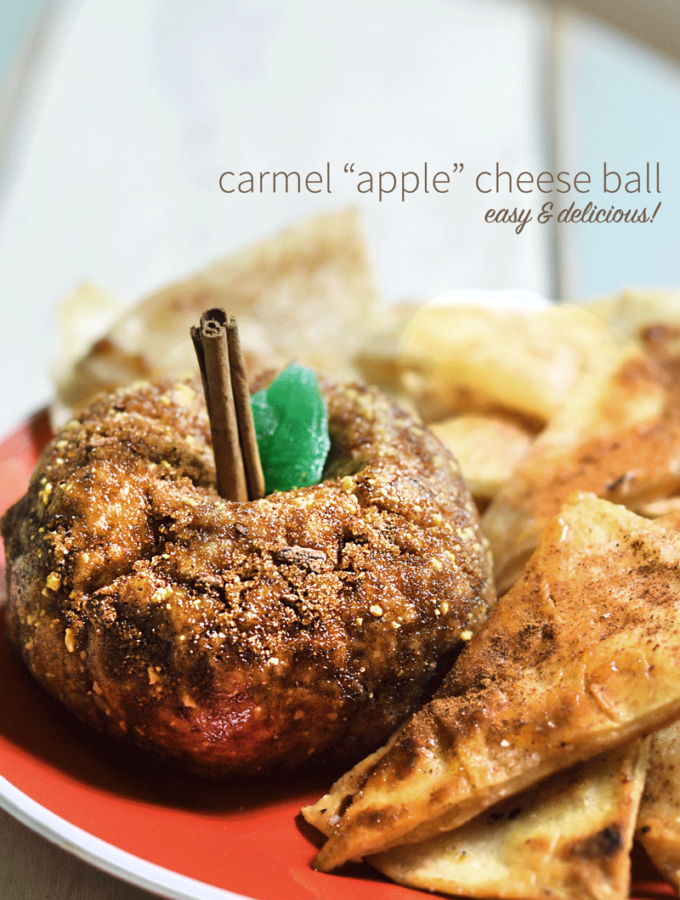 An apple shaped sweet ball is easy to put together and a sweet addition to your fall party or dinner.