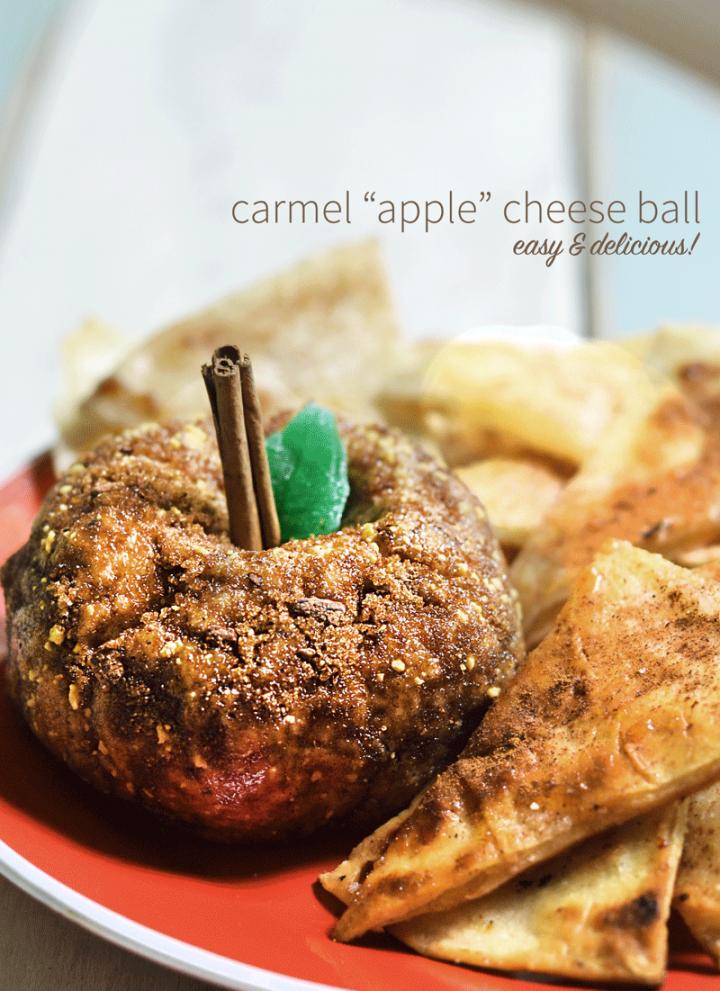 "sweet ""apple"" cheese ball"