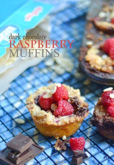 Dark Chocolate Raspberry Muffins