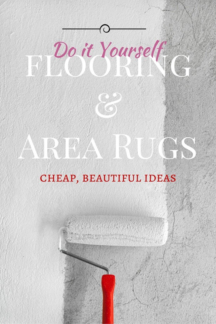 cheap flooring ideas and area rugs to diy