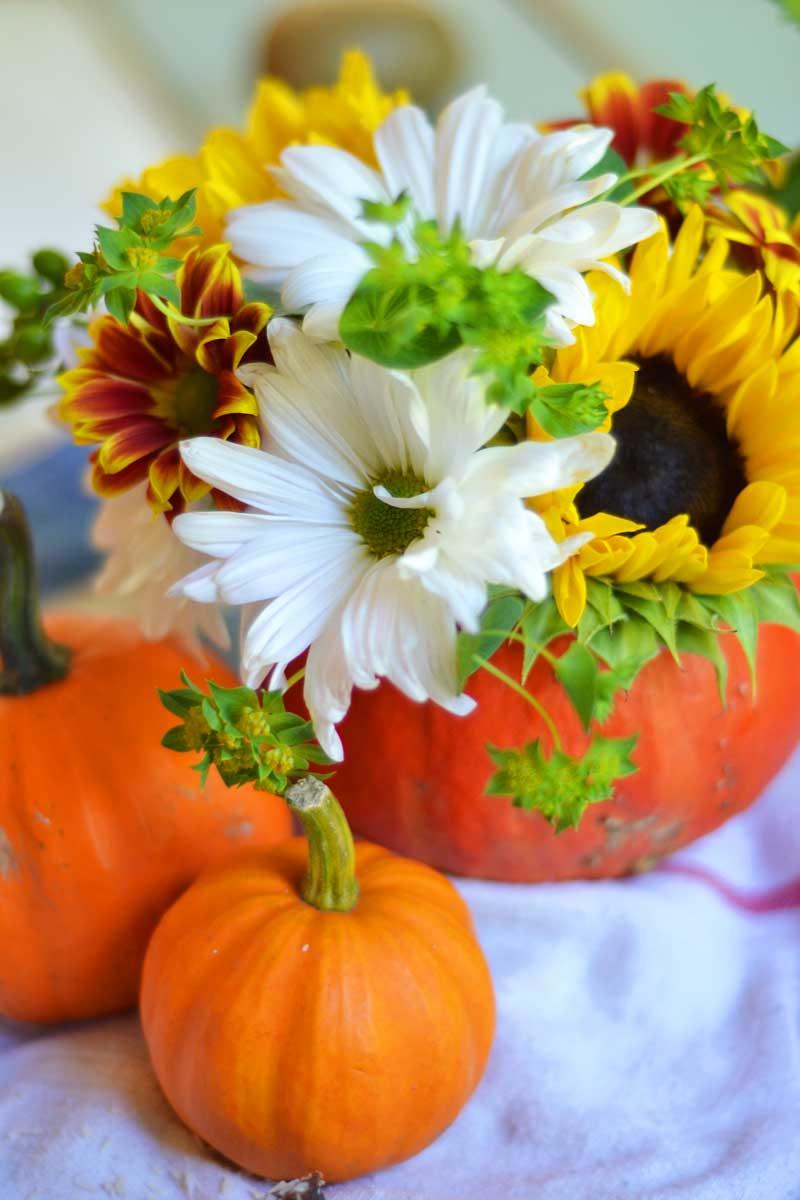 flowers-in-pumpkin