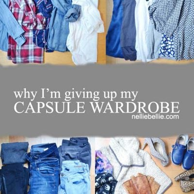 why I'm giving up my capsule wardrobe