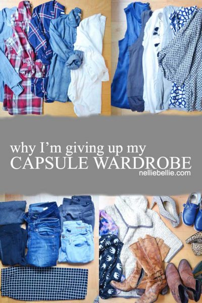 Why I'm giving up my capsule wardrobe. The mistakes I made in my capsule wardrobe that I realized
