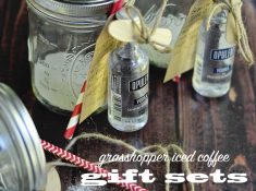 Iced coffee cocktail gift set is easy to make and a great gift idea from your kitchen. Perfect for the tea and coffee lovers.