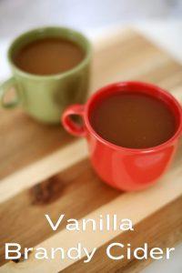 Vanilla Brandy Cider