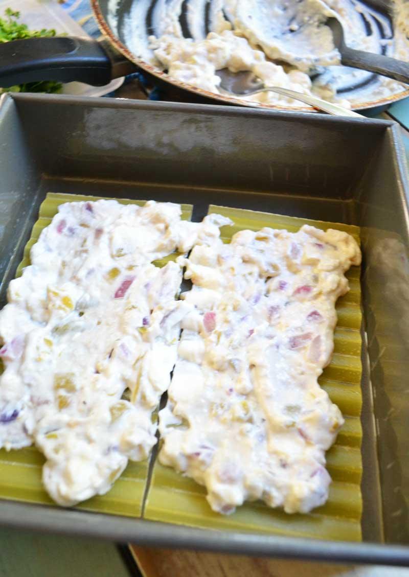 simple chicken enchilada lasagna recipe