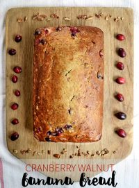 This cranberry walnut banana bread is a simple one-bowl bread .