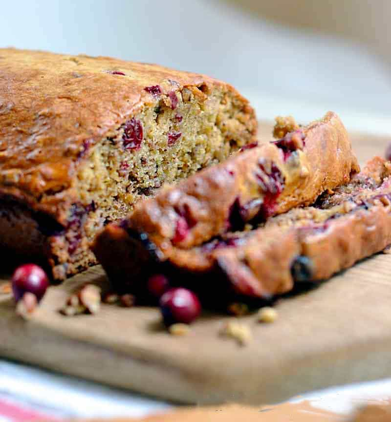 easy cranberry walnut banana bread recipe