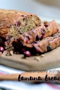 this cranberry walnut banana bread is an easy one-bowl recipe.