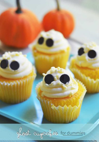 semi-homemade ghost cupcakes