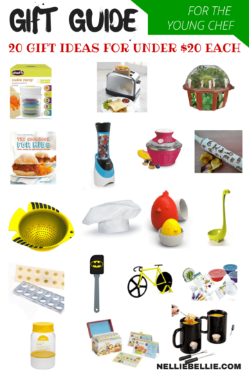 This is the ultimate gift guide for young chef's. 20 gift ideas for under $20 each. Full of fun, unique, and practical ideas for the beginning chef!