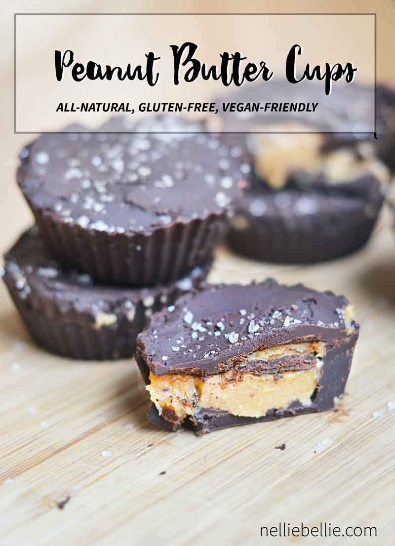 all natural peanut butter cups use only 4 ingredients are super easy to make and gluten-free and vegan-friendly!