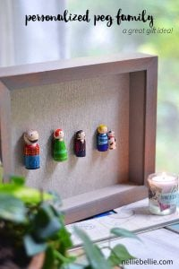 personalized family art-peg family