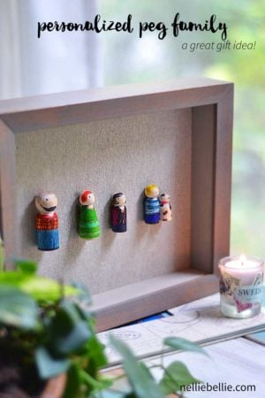 A personalized peg family is super easy and a fantastic gift idea!
