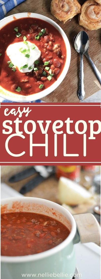 This easy stovetop chili recipe is done in 35 minutes! This recipe uses venison meat but you can use whatever meat your family prefers. A delicious and easy stove-top venison chili!