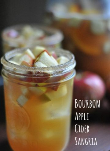Bourbon Apple Cider Sangria Cocktail