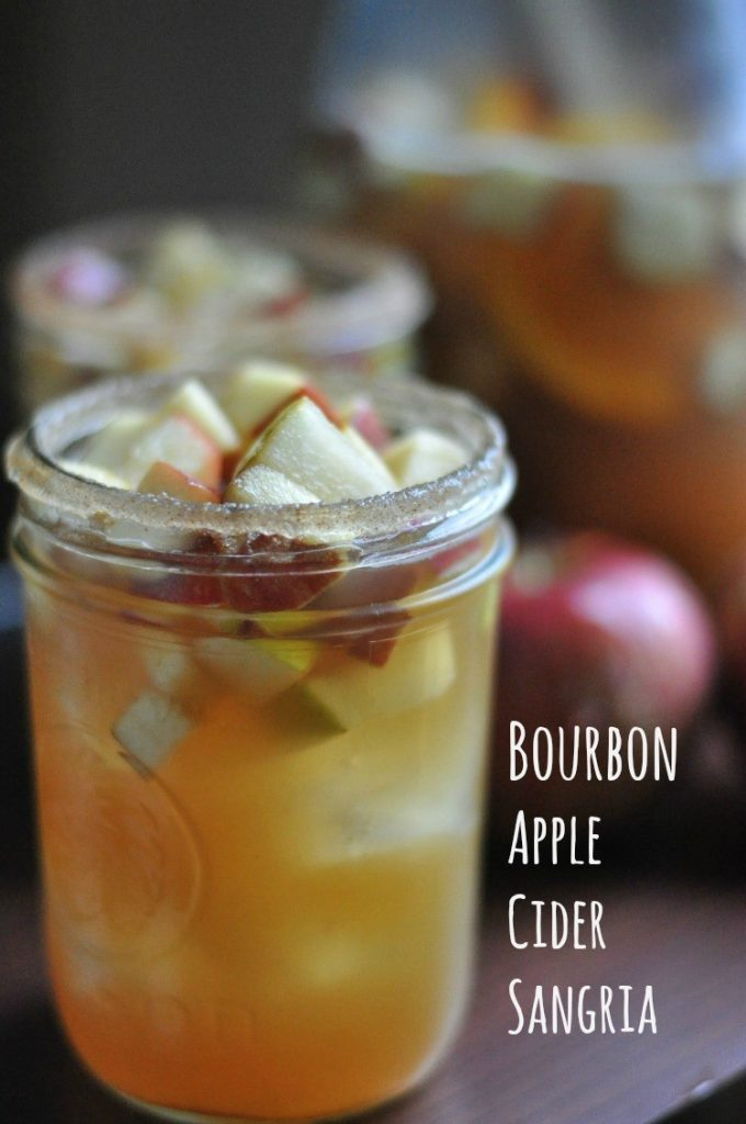 An easy fall sangria made with sparkling wine. Perfect for fall, Thanksgiving, and Game Day. #easy #fall #sangria #wine