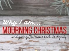 Why I'm mourning Christmas and challenging myself to the Simplified Holiday Challenge. Gosh, I need it!
