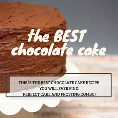 easy Chocolate Cake recipe from scratch