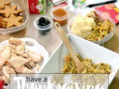Create a Thanksgiving Leftover station after the main meal for guests to take home their favorites!