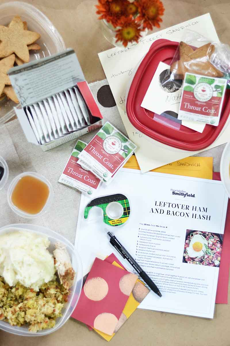 a Thanksgiving leftovers station is a great way for guests to take home leftovers. Who doesn't love leftovers?