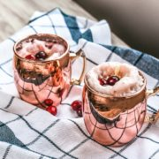 Festive cranberry moscow mule is a perfect holiday cocktail recipe!