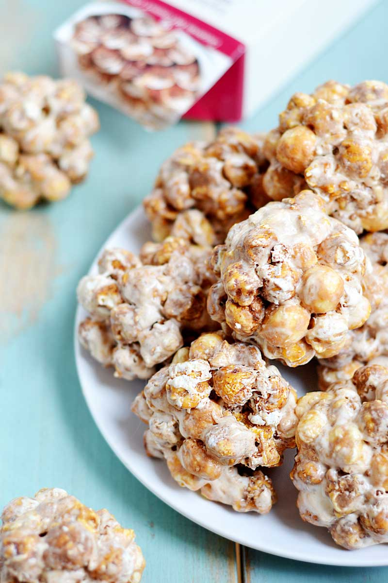 easy to make 3 ingredient popcorn balls are a great twist on the traditional, without all the work!