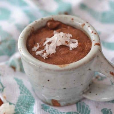easy Coconut Milk Chocolate Pudding