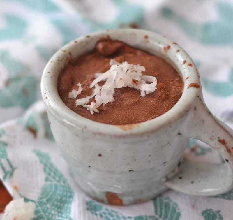 4 ingredient Coconut Milk Chocolate Pudding